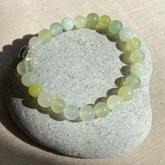 Bracelet en jade de Chine et argenté