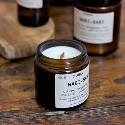 Bougie parfumée N°05 Chania 90g/25h Wabi-Sabi