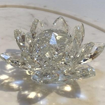 Cristal Fleur de lotus 13cm
