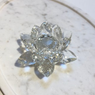 Cristal Fleur de lotus 9cm