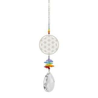 Fantaisie de cristal grand fleur de vie Woodstock Chimes