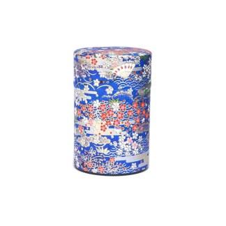 Boîte à thé Éventail bleu 75g