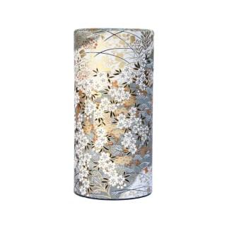 Boîte à thé Fleur d'or gris 150g