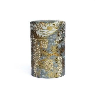 Boîte à thé Fleur d'or gris 75g