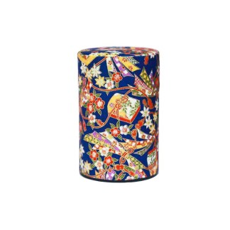 Boîte à thé Furoshiki bleu 75g
