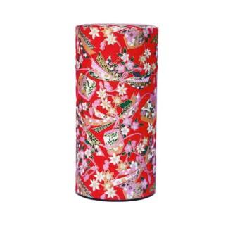 Boîte à thé Furoshiki rouge 150g