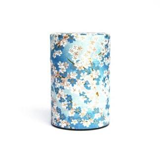 Boîte à thé Hanami bleu 75g