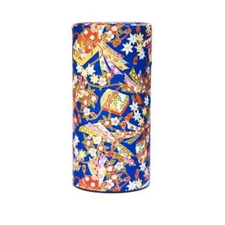 Boîte à thé Furoshiki bleu 150g