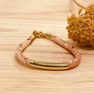 Bracelet japonais en tissu de Kimono N°07 Atelier Vivienne
