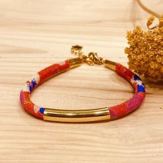 Bracelet japonais en tissu de Kimono N°14 Atelier Vivienne