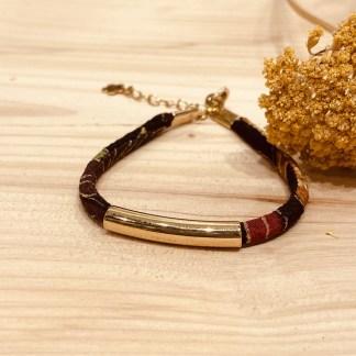 Bracelet japonais en tissu de Kimono N°19 Atelier Vivienne