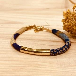 Bracelet japonais en tissu de Kimono N°21 Atelier Vivienne