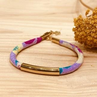 Bracelet japonais en tissu de Kimono N°23 Atelier Vivienne