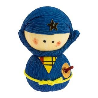 Culbuto Okiagari Ninja Bleu