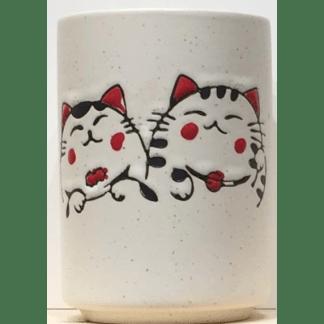 Tasse en porcelaine Deux chats