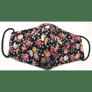 "Masque en tissu ""Fleurs"" Roses"