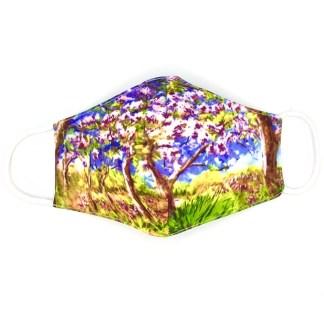 Masque en tissu Printemps à Giverny de Monet