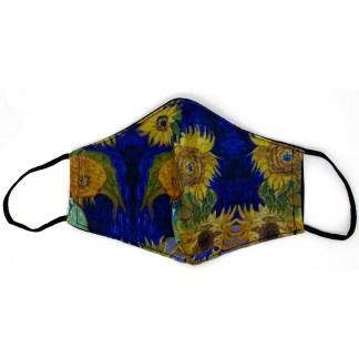 Masque en tissu Vase avec cinq tournesols de van Gogh