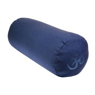Bolster en écales de sarrasin Yoga-Mad bleu foncé