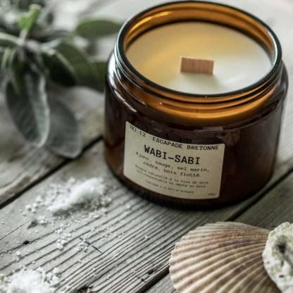 Bougie parfumée Wabi-Sabi N°12 Escapade bretonne 90g/25h