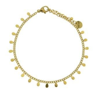 Bracelet Les Cleias acier inoxydable doré