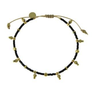 Bracelet Les Cleias acier inoxydable Farah noir