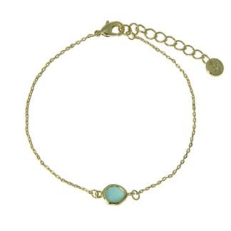 Bracelet Les Cleias plaqué or Teardrop aventurine