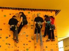 apprentissage en haut du mur