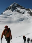 Walking back from the North Face of Mt Aspiring