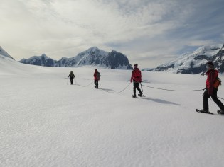 Firm Glacier snow shoeing on the way to Jabet
