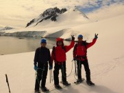 Feeling Great after a glacier hike and expore around the base of Jabet Peak