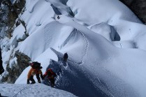Steep and exposed - just below the summit