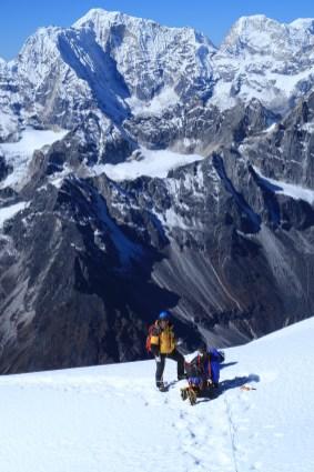 Sherap Sherpa - on the 'Tennis court' beneath the Summit