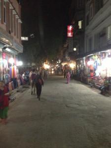 Quiet Thamel Streets