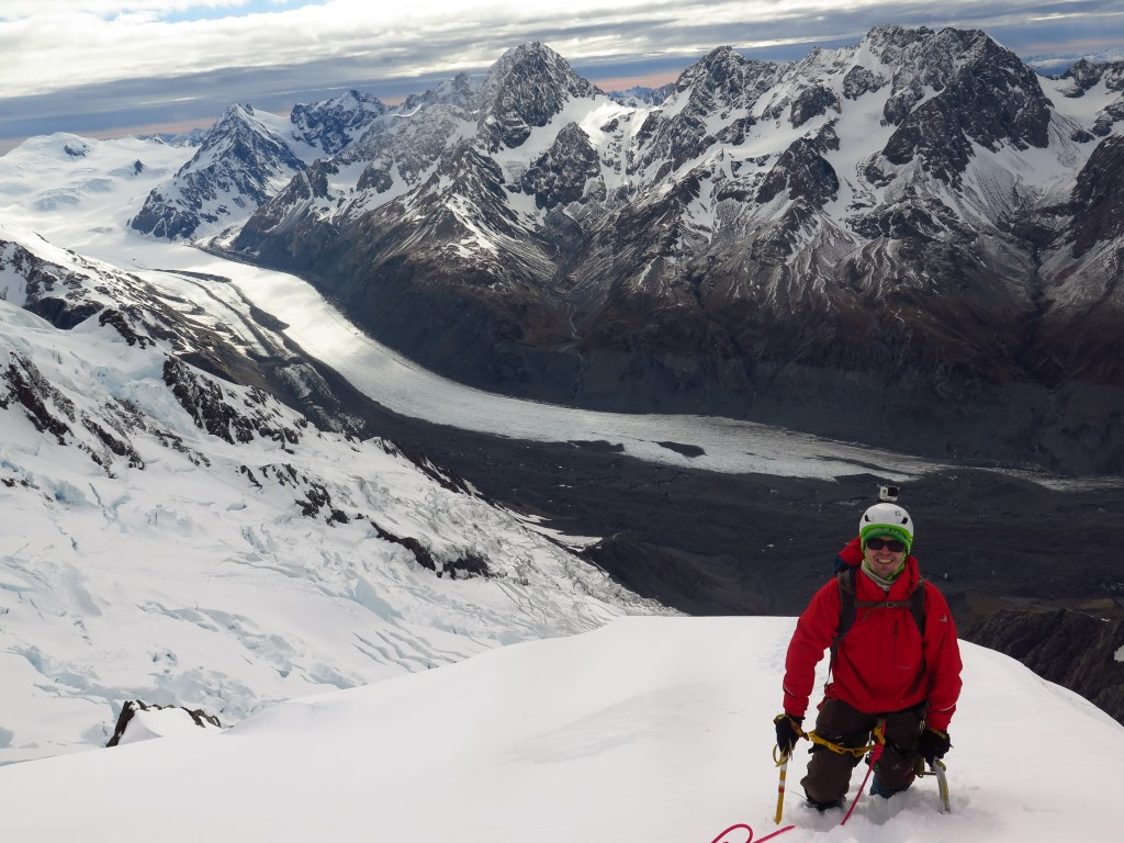 Mountaineering in New Zealand.