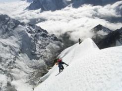 Climbing on the SW ridge of Cholaste