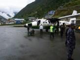 A wet landing in Lukla