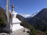 Our first view of Ama Dablam as we round the corner from Namche