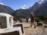 Andrew - on a mission to get to Pangboche
