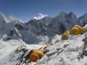 precarious tents - camp 1