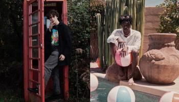 Две фотографии, с молодым человеком на каждой