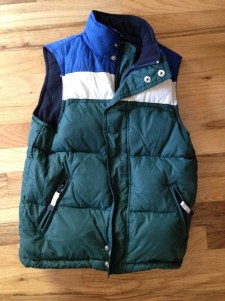 Cute vest for the boys but they don't really wear vests. eBay.