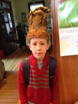 Just a cute picture of Scrotus in a headdress his cousins made. I'm not getting rid of it.