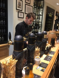 """Buying mustard """"on tap"""" at Maille"""