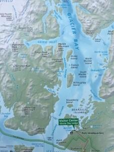 A map of Glacier Bay