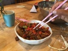 Spicy garlic eggplant, mmmmm
