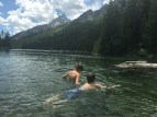 The water was cold