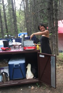 Cooking at the campsite