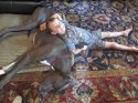 Micah loving on Blue. If he didn't like kids before, he does now. At least he likes my kids.