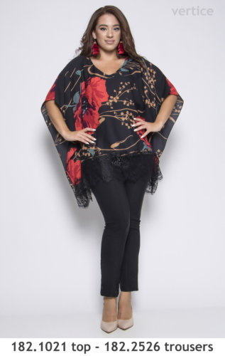 Floral top and trouser plus size